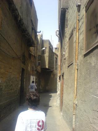 walking to the souk