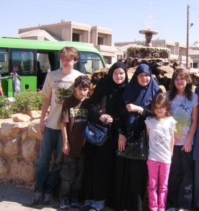 kids and I in Syria