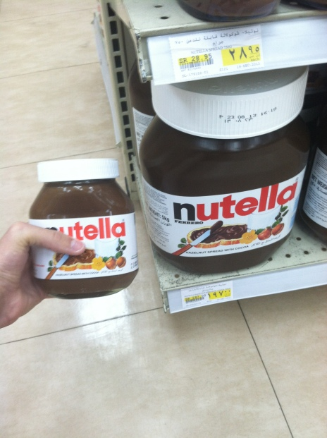 Nutella big and small